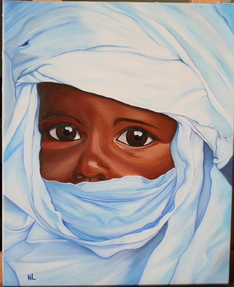 Enfant au turban bleu 010