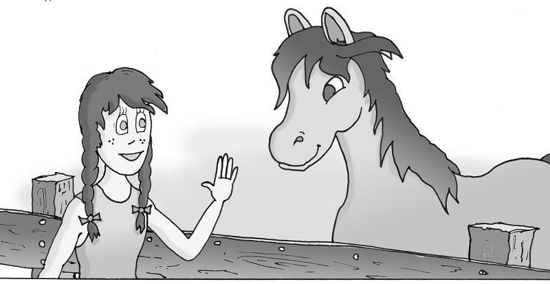 Ferme lilas cheval