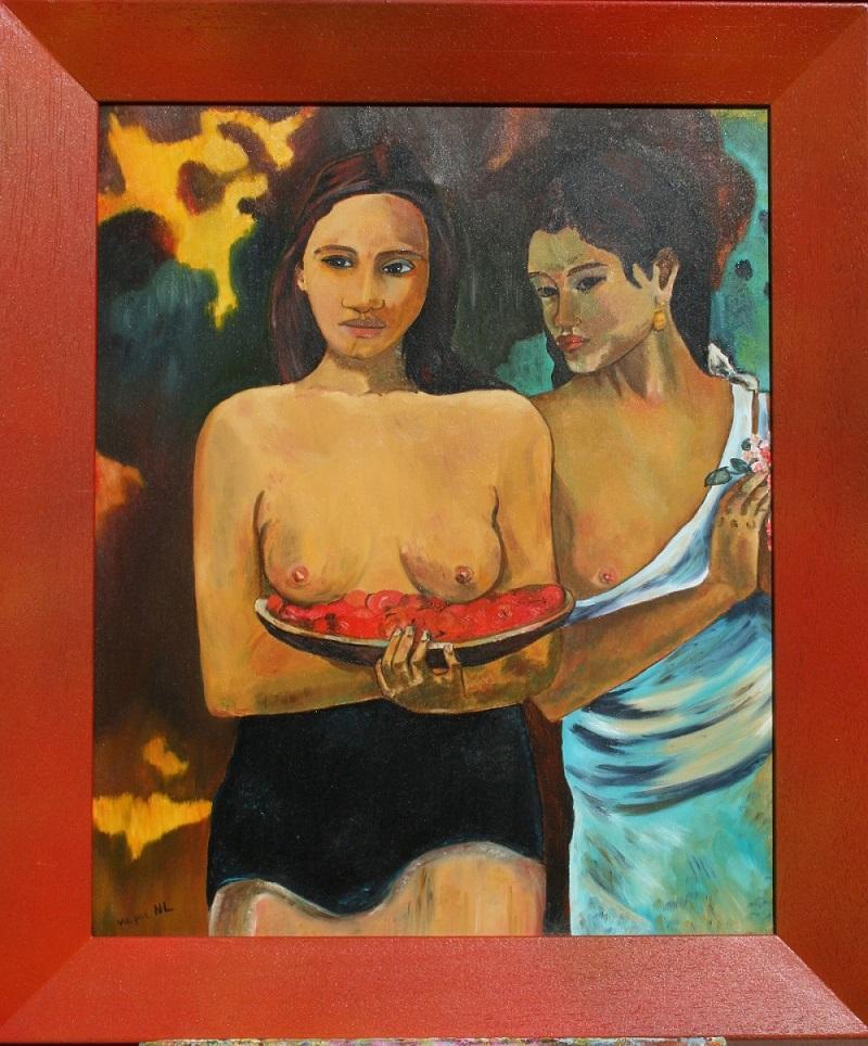Les tahiciennes d apres gauguin